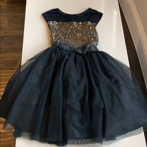 Super pretty black and gold dress with tulle
